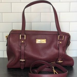 Michael Kors Bedford Merlot Leather Satchel